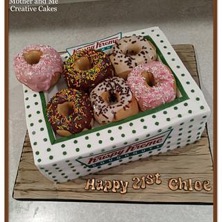 Krispy Kreme Illusion Cake - Cake by Mother and Me Creative Cakes
