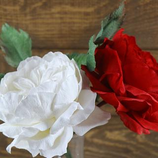 David austin rose waffer paper