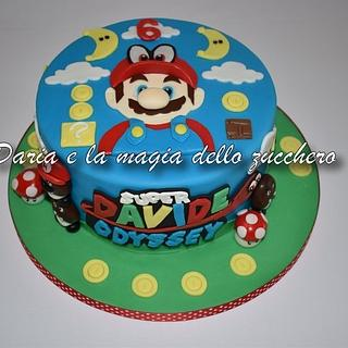 Mario Bros Odissey cake