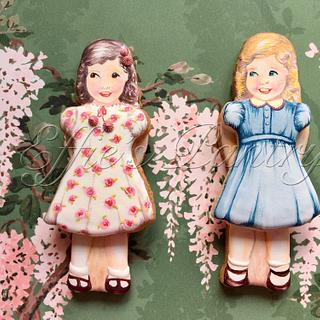 Paper doll cookies