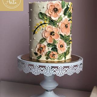 Buttercream Flowers Cake
