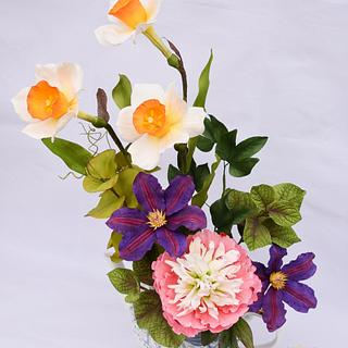 """My flowers for World Cancer Day Sugarflowers and Cakes in Bloom collaboration"""""""