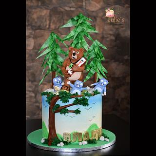 Grizzy and the Lemmings cake  - Cake by Julie's Sweet Cakes