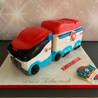 Paw Patroller lorry cake.  - Cake by Penny Sue
