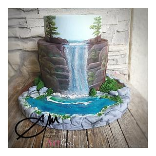 Waterfall cake - Cake by AntonellaMartini