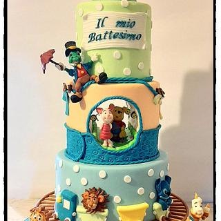 Baptism Disney Cake