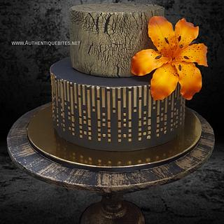 Black & Gold Cake - Cake by Authentique Bites by Ekta & Nekta