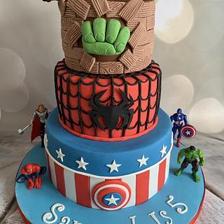Superhero cake. - Cake by Roberta