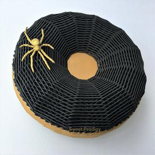 Gold Spider On A Black Web No. 3