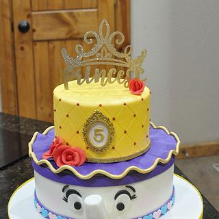 Beauty and The Beast themed cake