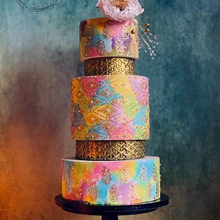 Colourful Wedding Cake - Cake by SugarfanciesbyPooja
