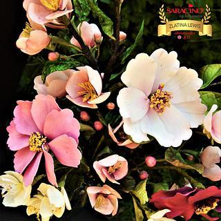 Summer flowers arrangement
