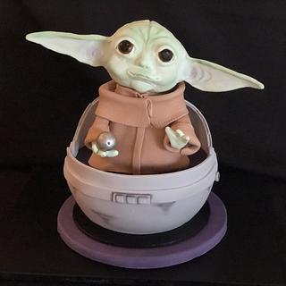Baby Yoda Capsule Cake - Cake by Julie Anne White