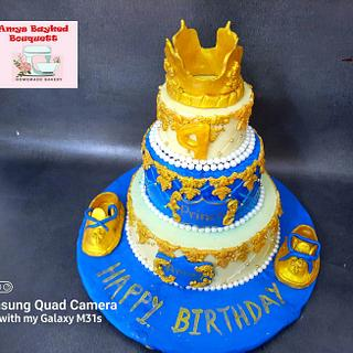 Prince theme Cake  - Cake by Amys bayked bouquett