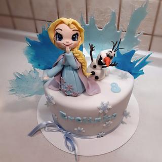 Frozen - Elsa and Olaf - Cake by Majka Maruška
