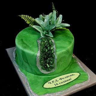 Cake green Crystal - Cake by Sunny Dream