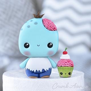 Cute Zombie Cake Topper