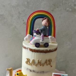 Little Driver Naked Cake