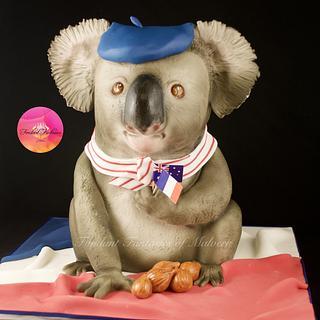 French Koala - Cake by Fondant Fantasies of Malvern