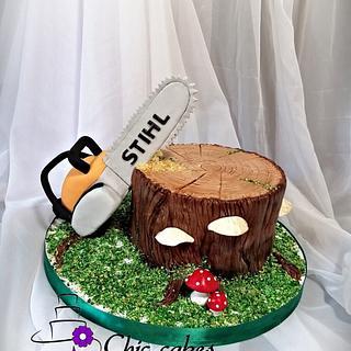 Stihl birthday cake