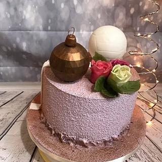 Duo cake - volleyball + choco rose - Cake by SLADKOSTI S RADOSTÍ - SLADKÝ DORT