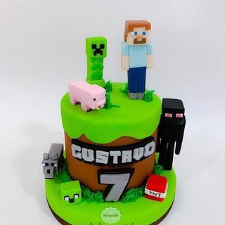 Torta de Minecraft en Envigado por Dulcepastel.com - Cake by Dulcepastel.com