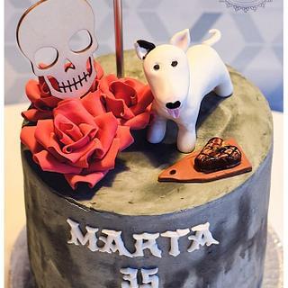 Bullterrier cake