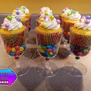 Candy Cupcake Cups - Cake by Wymeaka's Custom Cakes