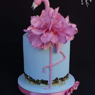 Flamingo - Cake by Diana