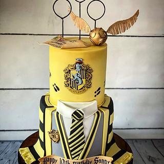 Harry Potter Hufflepuff cake  - Cake by Maria-Louise Cakes