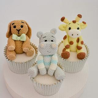 Knitted Toys Cupcakes - Cake by Juliana's Cake Laboratory