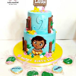 Moana cake theme  - Cake by Jojo