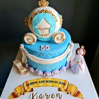 Princess Carriage cake  - Cake by FayePramraj