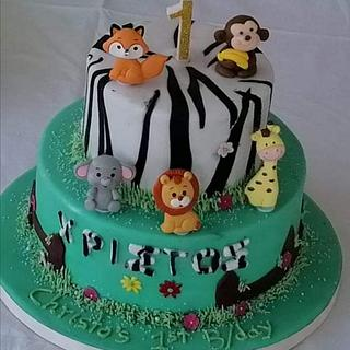 Baby Jungle - Cake by Miavour's Bees Custom Cakes
