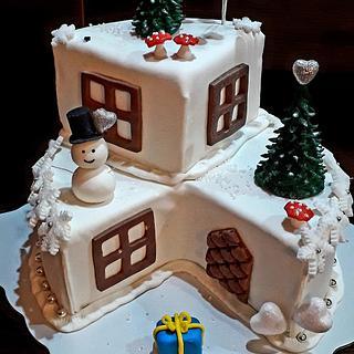 Winter house cake