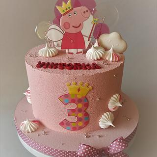 Peppa Pig cake - Cake by Jitkap