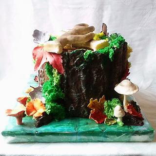 Autumn  in the woods - Cake by Édesvarázs