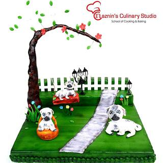 Pug Dog Cake   - Cake by Sultana Rajia Naznin