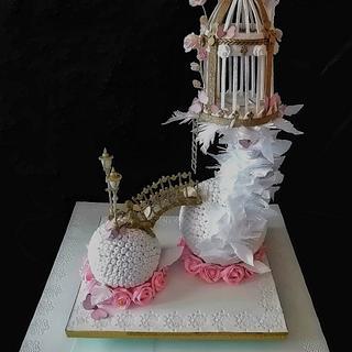 "My participation in the #CakeArtBulgaria category ""Wedding Cakes"" - Cake by Desislava Tonkova"