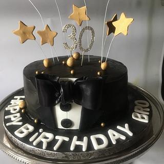 Tuxedo cake  - Cake by TheBakersGallery