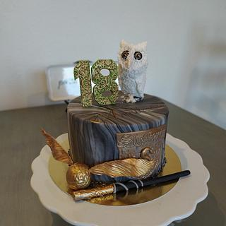 Harry Potter Themed Cake - Cake by LaniesCakery