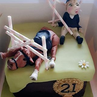Funny Equestrian cake