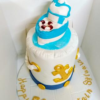 Nautical cake - Cake by Cups'& Cakery Design