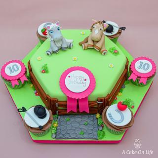 Horse Themed Cake - Cake by Acakeonlife