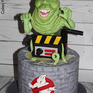Ghostbusters cake - Slimer and ghost trap