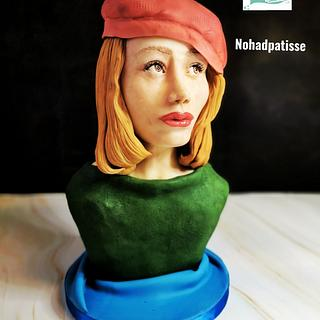 Modelling chocolate bust