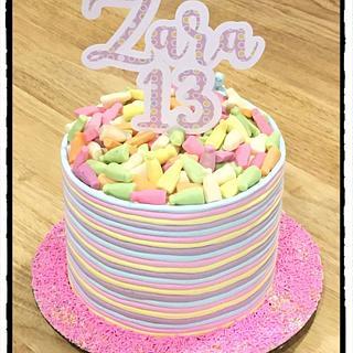 Pastel rainbow 🌈  - Cake by Rhona