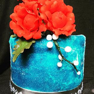 Sugar leaf cake