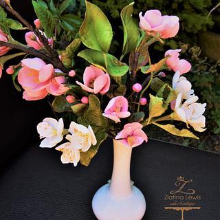 Spring sugar flower blossoms