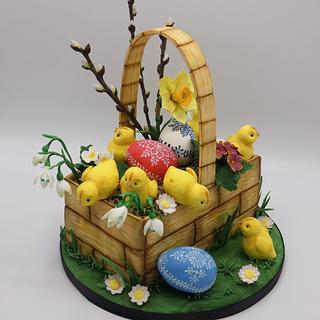 Spring basket🐥 - Cake by Olina Wolfs